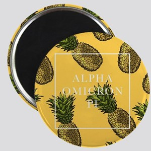 Alpha Omicron Pi Pineapples Magnet