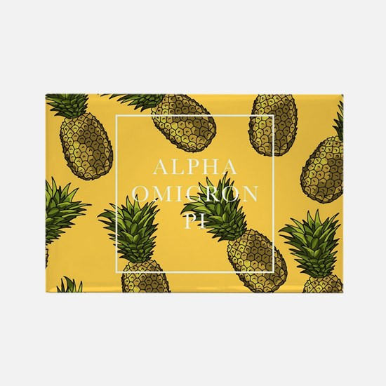 Alpha Omicron Pi Pineapples Rectangle Magnet