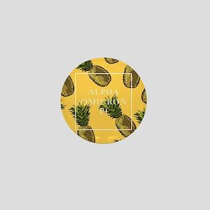Alpha Omicron Pi Pineapples Mini Button