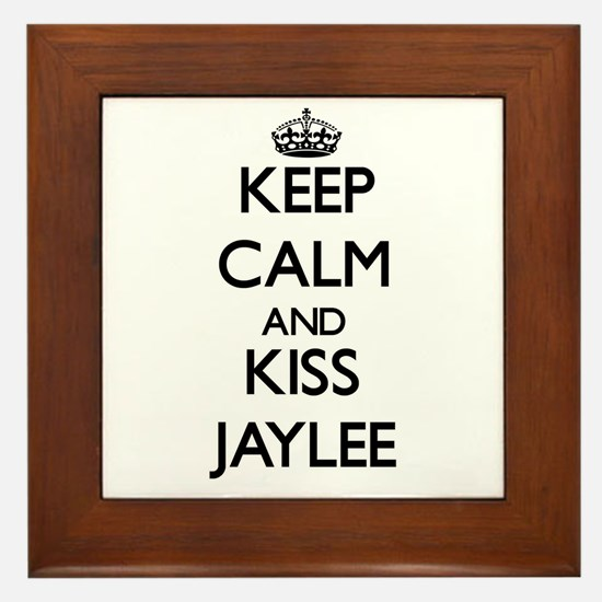 Keep Calm and kiss Jaylee Framed Tile