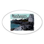 Monhegan Harbor Oval Sticker