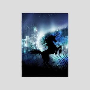 Unicorn Silhouette 5'x7'Area Rug