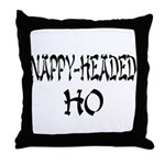 Nappy Headed Ho Oriental Design Throw Pillow