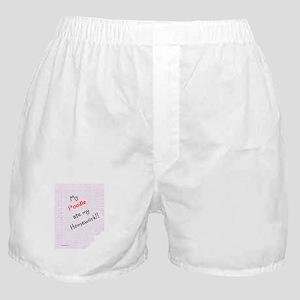 Poodle Homework Boxer Shorts