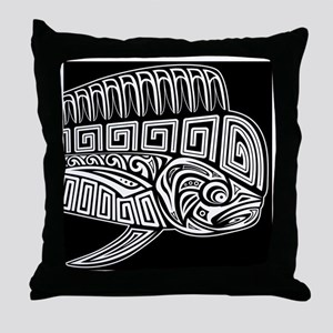 Polynesian Mahi Throw Pillow
