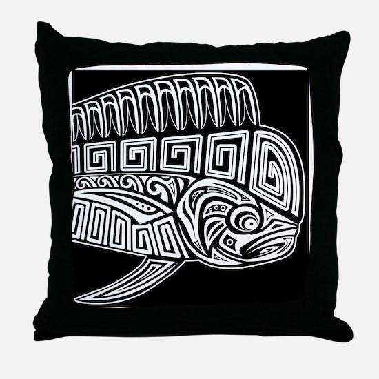 Polynesian Mahi Throw Pillow