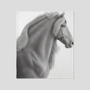 Proud Friesian Horse Throw Blanket