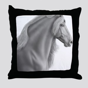 Proud Friesian Horse Throw Pillow