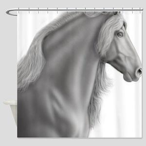 Proud Friesian Horse Shower Curtain