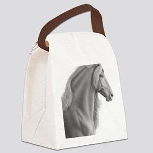 Proud Friesian Horse Canvas Lunch Bag