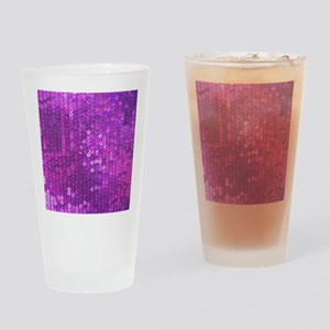 Purple Sequin Pattern Drinking Glass