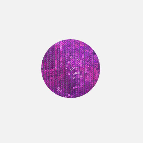 Purple Sequin Pattern Mini Button