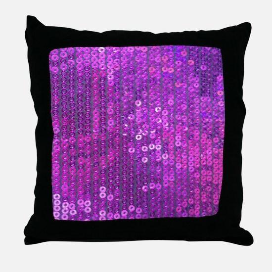 Purple Sequin Pattern Throw Pillow
