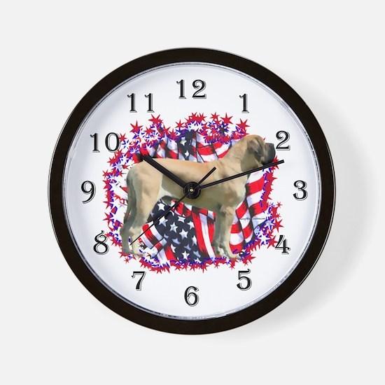 Mastiff Patriot 16 Wall Clock