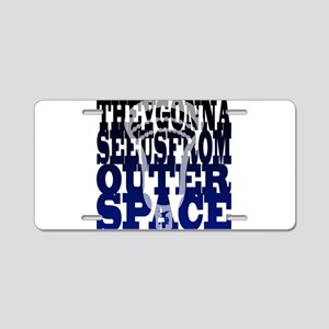 Lacrosse Outer Space Aluminum License Plate