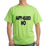 Nappy Headed Ho Brush Design Green T-Shirt