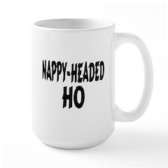 Nappy Headed Ho Brush Design Large Mug