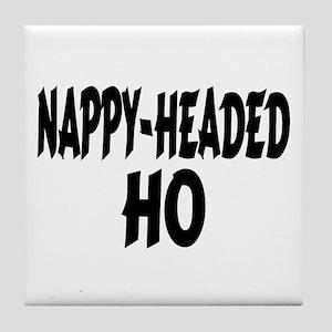 Nappy Headed Ho Brush Design Tile Coaster