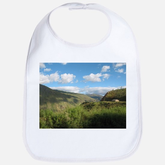 Yellow House in the Andes Baby Bib