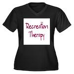 Recreation Therapy Women's Plus Size V-Neck Dark T