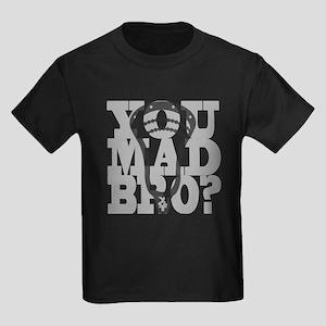 Lacrosse You Mad Bro? Kids Dark T-Shirt