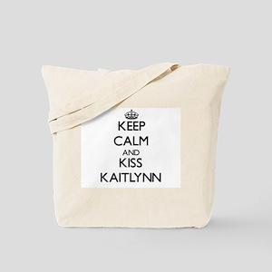 Keep Calm and kiss Kaitlynn Tote Bag