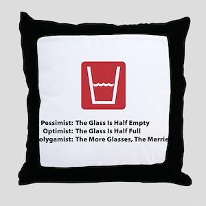 Polygamist Glass Throw Pillow