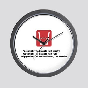 Polygamist Glass Wall Clock