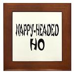Nappy Headed Ho French Design Framed Tile