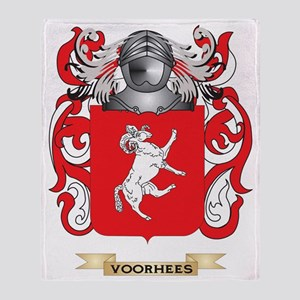 Voorhees Family Crest (Coat of Arms) Throw Blanket