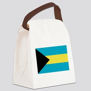 bahamas-flag Canvas Lunch Bag
