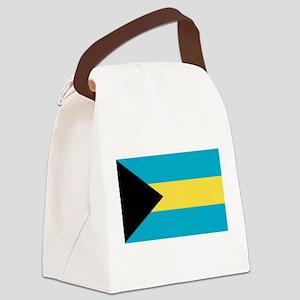 bahamas-flag Canvas Lunch Bag