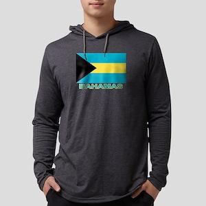 Bahamian Flag (labeled) Long Sleeve T-Shirt