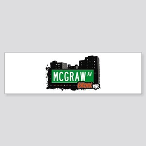 McGraw Av, Bronx, NYC Bumper Sticker