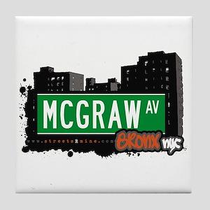 McGraw Av, Bronx, NYC Tile Coaster