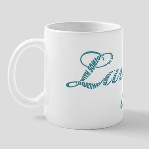 Laugh in Aqua Mug