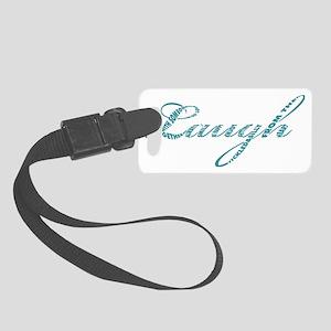 Laugh in Aqua Small Luggage Tag
