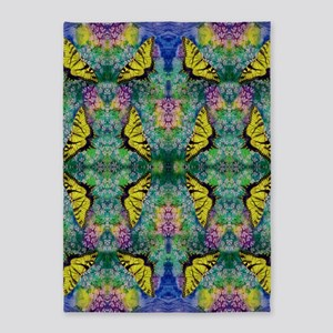 Swallowtails 5X7 Foot Area Rug