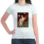 Seated Angel & Boxer Jr. Ringer T-Shirt