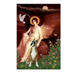 Seated Angel & Boxer Postcards (Package of 8)