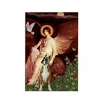 Seated Angel & Boxer Rectangle Magnet
