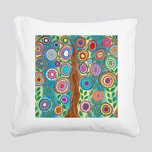 Tree of Life Square Canvas Pillow