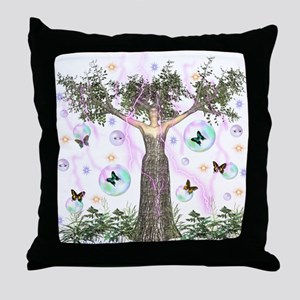 Mother Earth Tree Throw Pillow