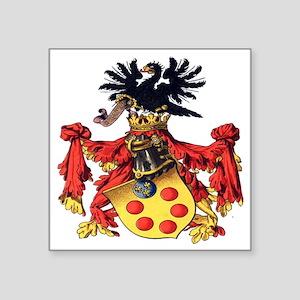 "Medici Coat of Arms Square Sticker 3"" x 3"""