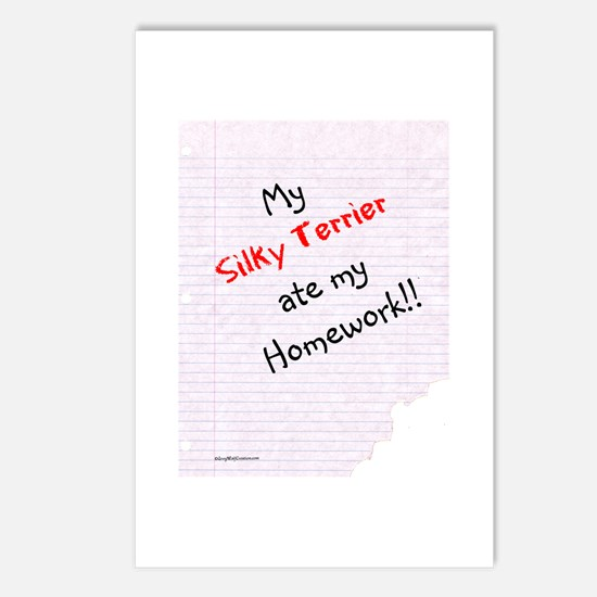 Silky Homework Postcards (Package of 8)