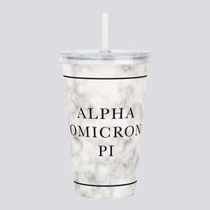 Alpha Omicron Pi Marbl Acrylic Double-wall Tumbler