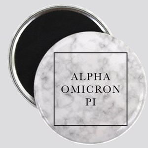 Alpha Omicron Pi Marble Magnet