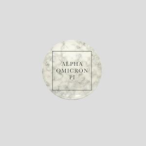 Alpha Omicron Pi Marble Mini Button