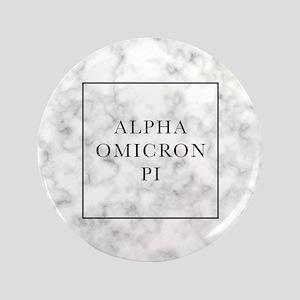 "Alpha Omicron Pi Marble 3.5"" Button"