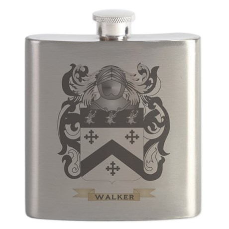Walker 2 Family Crest (Coat of Arms) Flask